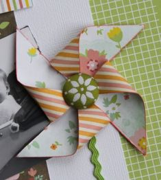 Pinwheels/windmills for cards and scrapbooking