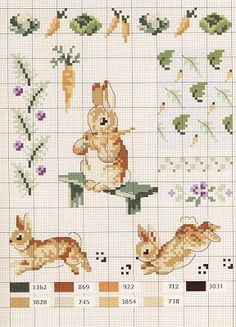 Lovely heart things: Cross Stitch: Le monde de Beatrix Potter by Veronique Enginger (scheme)