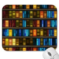 Buch-Liebhaber u. Bibliothekar-bunte Bücher auf Re Mauspads von inspiredbygenius