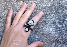 Adjustable Moonstone wire wrapped ring with cat's eye by Ianira, €22.00