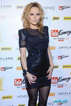Patrycja Markowska -  2011 Leather Skirt, Perfume, Eyes, Face, Skirts, Dresses, Fashion, Moda, Vestidos