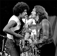 Phil Lynott with Rory Gallagher My two favourite people right now....so much better than all the modern crap!!