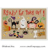 Cute Halloween cross stitch!
