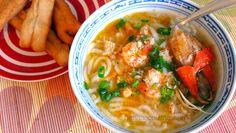 Bánh canh - Vietnamese Udon noodle soup.