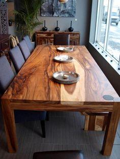 Suar Wood Table   <3    very nice. top + legs