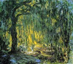Claude Monet.  Weeping Willow (1919).