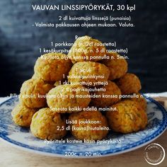 Vauvan linssipyörykät — Simppeli sormiruokakeittiö Baby Food Recipes, Cooking Recipes, Kid Friendly Meals, Kids And Parenting, Kids Meals, Baked Potato, Nom Nom, Vegetarian Recipes, Muffin