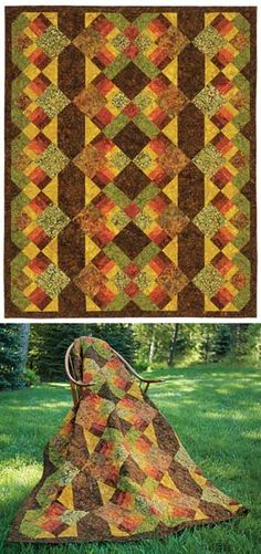 AUTUMN TAPESTRY QUILT KIT
