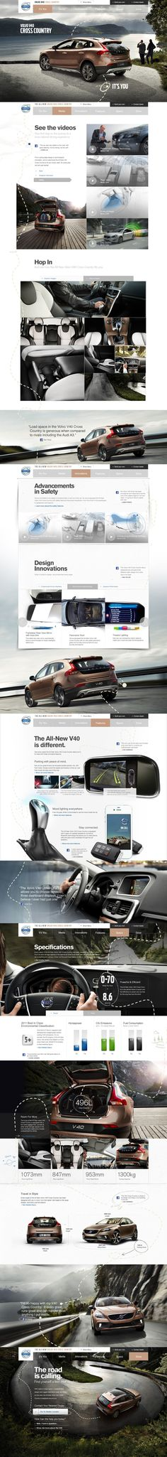 Volvo V40 Cross Country on Behance
