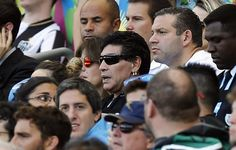 BRAZIL BEAT: Maradona makes it to stands this time