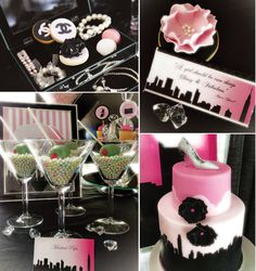 Fabulous Chanel & Sex and the City Dessert Table by Kiss Me Kate!