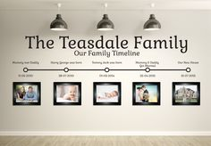 Family Timeline Wall Sticker | Personalised decal of families details, childrens birthdates and any custom or bespoke information Great gift by OrangeReel on Etsy