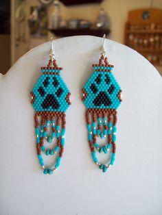 Native+American+Beaded+Pottery+Turquoise+Paw+by+BeadedCreationsetc,+$17.00