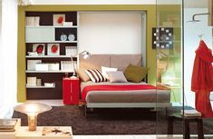 Wall bed space saving furniture wall units and desk also window blinds trundle bed frame and mattress queen murphy bed plans ikea metal bed frame queen ikea murphy bed princess twin bed Cama Murphy, Murphy Bed Desk, Murphy Bed Plans, Desk Bed, Resource Furniture, Space Saving Beds, Space Saving Furniture, Office Furniture, Furniture Storage