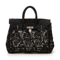 Black Lace Lucency Platinum Handbag pictures