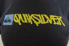 Quiksilver Men's Medium Graphic Logo T Shirt Blue Short Sleeve 100% Cotton M109 #Quiksilver #GraphicTee