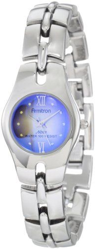 Armitron Womens 752453BLU SilverTone Teal Degrade Dial Dress Watch >>> Check out this great product.Note:It is affiliate link to Amazon.