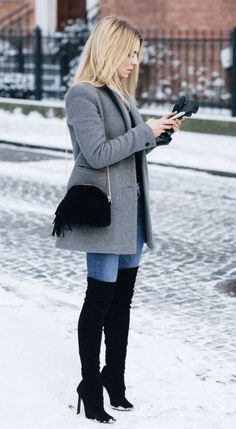 45 Lovely Fall Outfits To Try Now - Wachabuy Winter Outfits For Work, Winter Outfits Women, Casual Winter Outfits, Winter Fashion Outfits, Look Fashion, Stylish Outfits, Trendy Fashion, Fall Outfits, Autumn Fashion