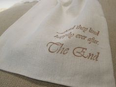 100 Muslin Gift Bags Favors  And they lived by frenchcountry1908, $90.00