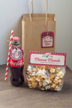 Favors + Snacks from a Woodland Animal + Lumberjack Baby Shower via Kara's Party Ideas! KarasPartyIdeas.com (3)