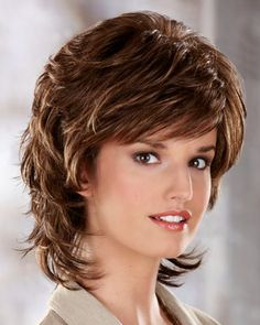 A Capless wig with ultra-thin weftings makes Chloe by Henry Margu Wigs the perfect wig choice for women with hair loss. Try this fantastic wig today! Short Shag Hairstyles, Layered Haircuts, Henry Margu Wigs, Medium Hair Styles, Curly Hair Styles, Modern Shag Haircut, Medium Layered Hair, Synthetic Wigs, Short Hair Cuts