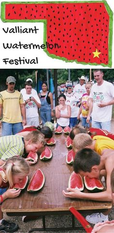The Valliant Watermelon Festival is an Oklahoma summer staple! Chow down on free slices of watermelon, watch the adorable parade and participate in all kinds of games and contests.