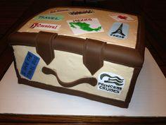 Travel suitcase cake by dkscakes.com