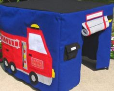 This listing is for one Construction Site Card Table Playhouse.  Here is a great playhouse for the boy (or girl!) in your life who loves BIG trucks and tools!  This colorful playhouse will be made to fit over your own card table. Please use the drop down menus to choose your table size when you check out. Round UP for 1/2 increments. When checking out, please use the first drop down menu to choose the adhesive or sewn method of making your playhouse. The adhesive method is as effective as…