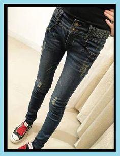 Debbie Slight-Destroyed Skinny Pant - s, m, l
