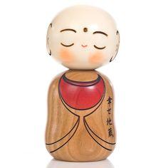 -Happy Buddha Kokeshi Doll -