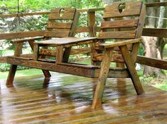 After photo of restored chairs and deck, amazing how clean we can get your deck! www.thinkpainting.net Sweet Life On Deck, Building A Deck, Types Of Wood, Creative Decor, Outdoor Furniture, Outdoor Decor, Garden Bridge, Benches, Decks
