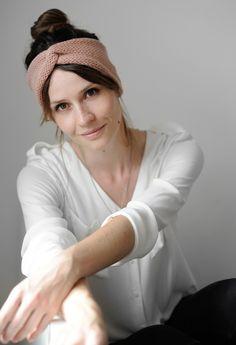 Stirnbänder - Stirnband AVA I pfirsich - ein Designerstück von Paula_m bei DaWanda