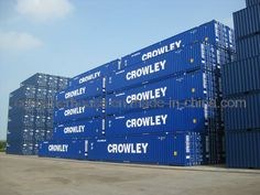 53 foot containers | Gebruikt 53 Voet droog Container – Gebruikt 53 Voet droog ... Dry Container, Freight Forwarder, Jacksonville Florida, Crowley, Trains, Transportation, June, People, Shipping Containers