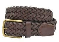 Tommy Hilfiger 8 Strand Braided Leather Belt - Brown