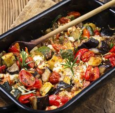 Gemüsegratin mit Mozzarella Tags: