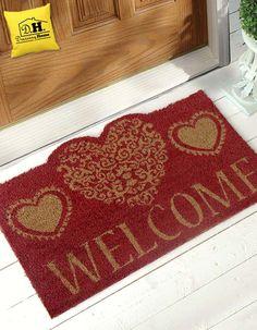 Diamo il benvenuto nella nostra casa con uno zerbino molto romantico, in versione rossa
