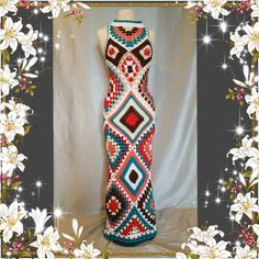 Check out this item in my Etsy shop https://www.etsy.com/listing/285598605/womens-crochet-granny-square-maxi-hippie