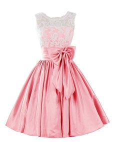 Eveing Dresses O-neck Homecoming Dress LACE PROM DRESS Taffeta Short A-Line DRESSES PINK MINI PARTY on Luulla