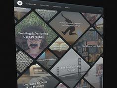 Designer Magazine designed by Joshua Sortino. User Interface Design, Ui Ux Design, Design Art, Random Web, Web Dashboard, Web Design Trends, Web Inspiration, Modular Design, Page Layout