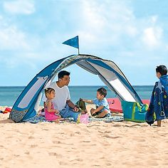 NEED IT! Sun Smarties Family Beach Cabana Tent - One Step Ahead Baby