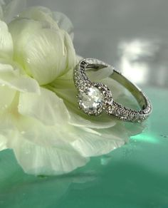 Herkimer Diamond Antique Style Ring by greengem on Etsy, $175.00