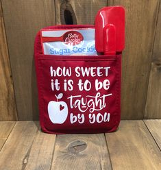 shop: How Sweet It is to be Taught by You Teacher Appreciation Pot Holder Gift, Teacher Christmas Gift, Pot Holder, Gifts Under 10 Excited to share this item from my Teacher Christmas Gifts, Handmade Christmas Gifts, Christmas Fun, Christmas Quotes, Christmas Wreaths, Teacher Appreciation Gifts, Teacher Gifts, Teacher Stuff, Teacher End Of Year