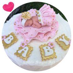 GOLD POLKA DOT Pink and gold Baby Shower Topper Fondant Cake Topper baby girl Tutu by BabyCakesByJennifer on Etsy https://www.etsy.com/listing/235078243/gold-polka-dot-pink-and-gold-baby-shower
