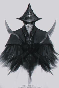 Eileen the Crow art Bloodborne Dnd Characters, Fantasy Characters, Dark Fantasy Art, Dark Art, Eileen The Crow, Ronin Samurai, Arte Dark Souls, Character Art, Character Design