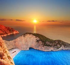 Navagio Sunset #Navagio #Zakinthos #traveltoGReece #Greece #Hellas