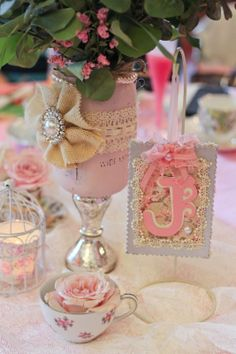 decoration ideas girl party chabby chic pink and teal - Google Search