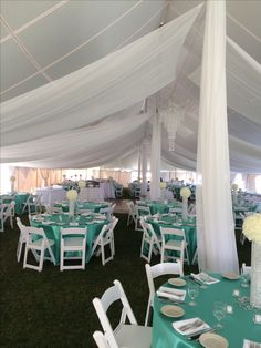 50 x 100 White Party Tent Wedding at Moonbrook Country Club #jamestownawning #weddingreception