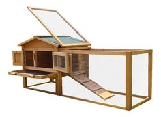 BUNNY BUSINESS Double Decker Wooden Rabbit/ Guinea Pig Hutch with Play Area: Amazon.co.uk: Pet Supplies