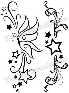 tatouage étoiles papillons - Recherche Google