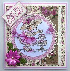 ink'n'rubba LOTV cupcake stamp, Marianne Design die cuts and SU! papers